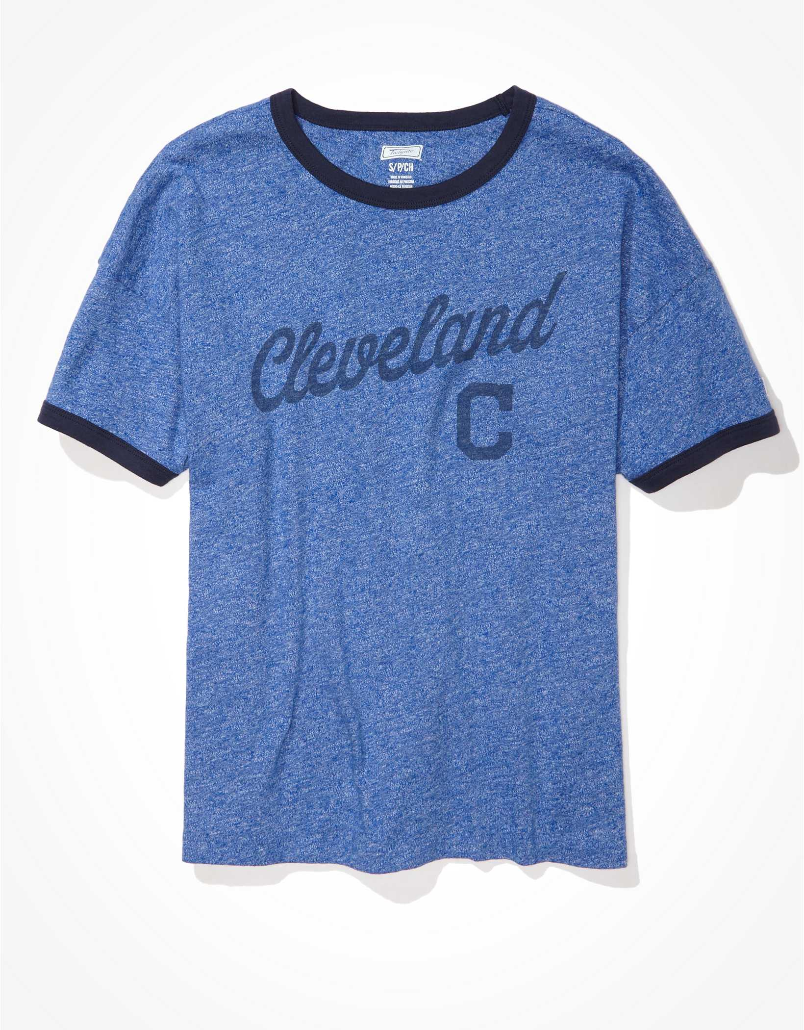 Tailgate Women's Cleveland Indians Ringer T-Shirt