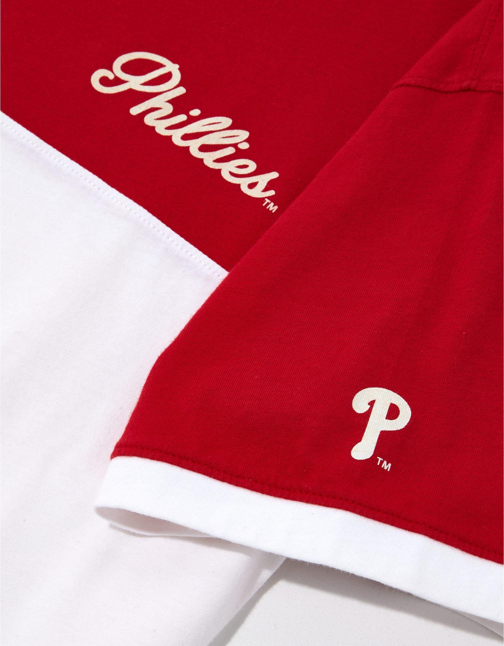 Tailgate Women's Philadelphia Phillies Cropped Colorblock T-Shirt