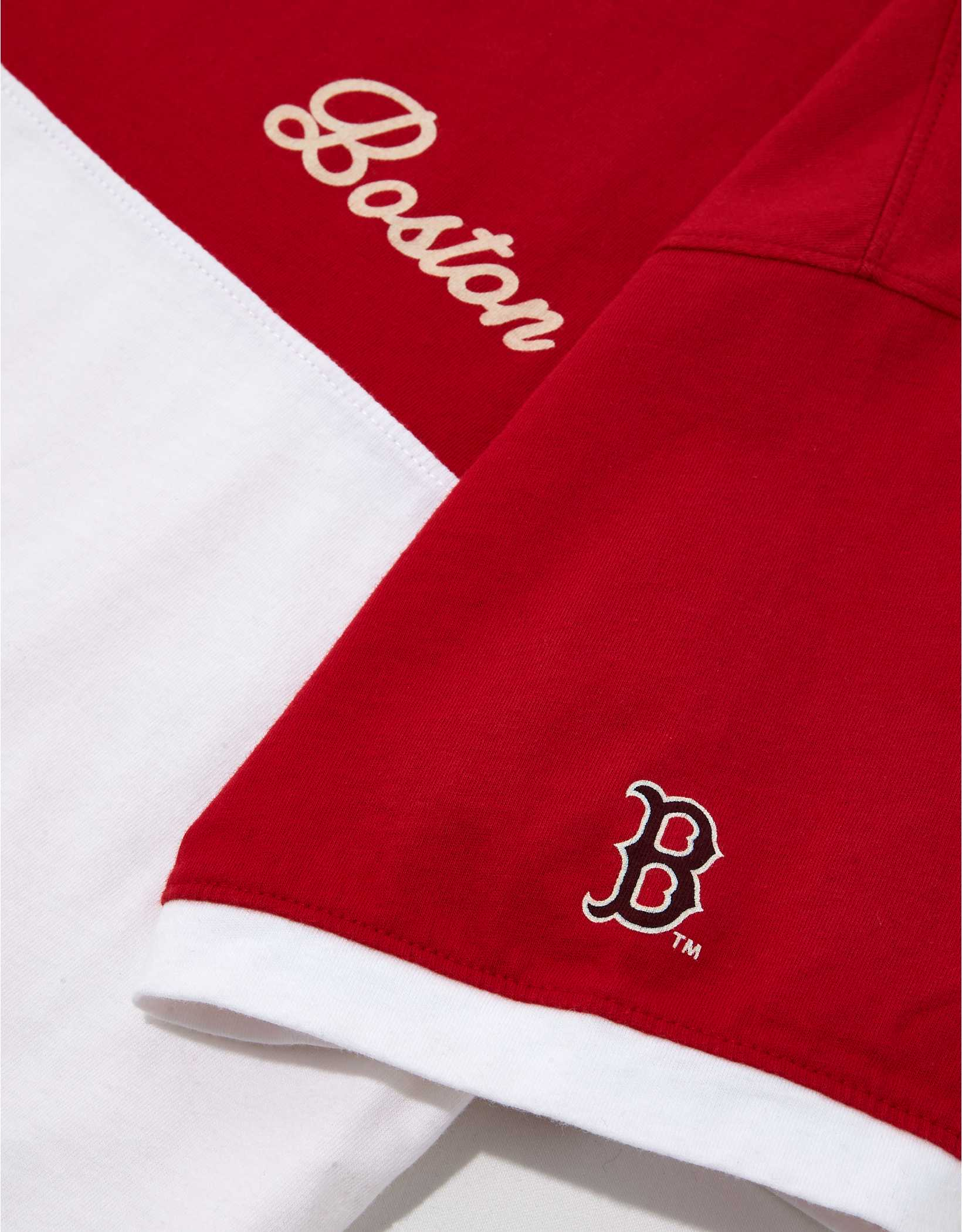 Tailgate Women's Boston Red Sox Cropped Colorblock T-Shirt