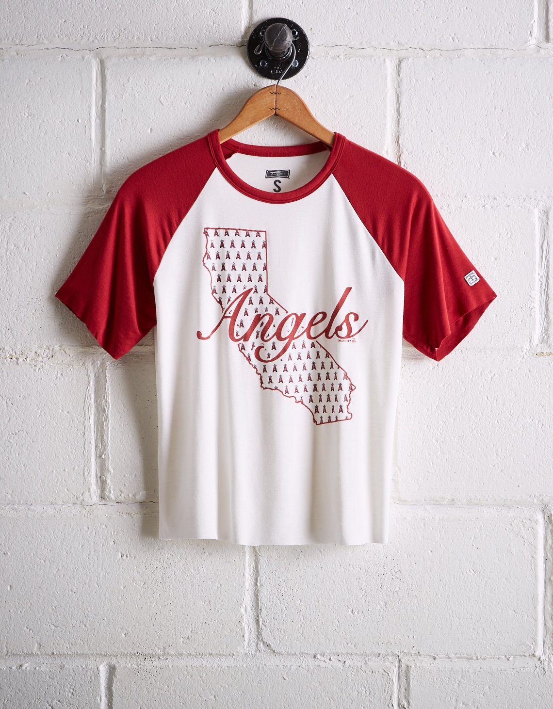 Tailgate Women s Los Angeles Angels Cut-Off Baseball Tee 7eb00ae449
