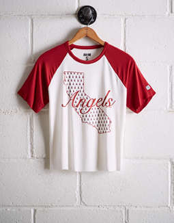 Tailgate Women's Los Angeles Angels Cut-Off Baseball Tee