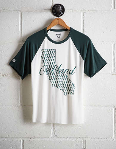 Tailgate Women's Oakland A's Cut-Off Baseball Tee - Free Shipping & Returns