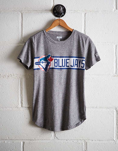 Tailgate Women's Blue Jays Chest Stripe T-Shirt - Free Returns