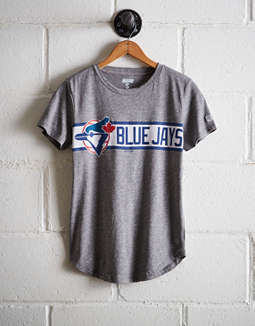 Tailgate Women's Blue Jays Chest Stripe T-Shirt