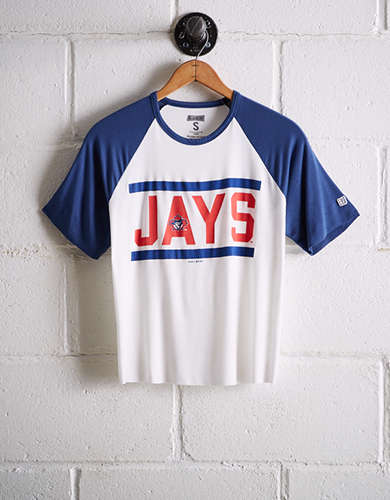 Tailgate Women's Toronto Blue Jays Cut-Off Baseball Tee - Free Returns