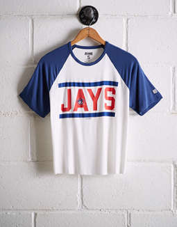 Tailgate Women's Toronto Blue Jays Cut-Off Baseball Tee