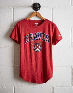 best service 19d68 94317 atlanta braves womens shirt