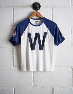 Tailgate Women's Chicago Cubs Cut-Off Baseball Tee