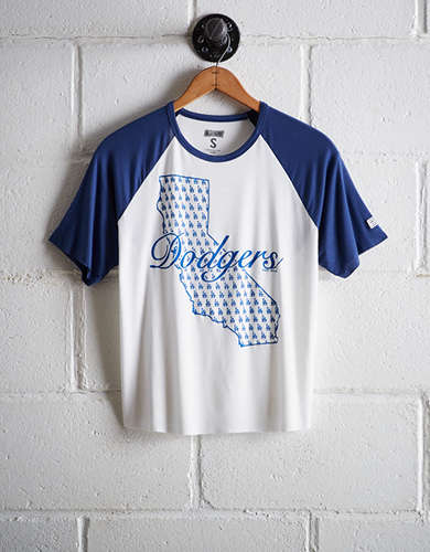 Tailgate Women's Los Angeles Dodgers Cut-Off Baseball Tee - Buy One Get One 50% Off