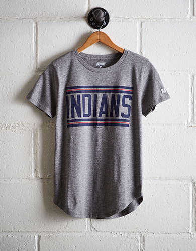 Tailgate Women's Indians Chest Stripe T-Shirt - Free Shipping & Returns