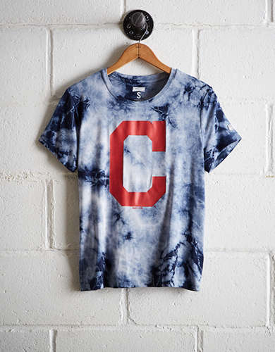 Tailgate Women's Cleveland Indians Tie-Dye T-Shirt - Free Shipping & Returns