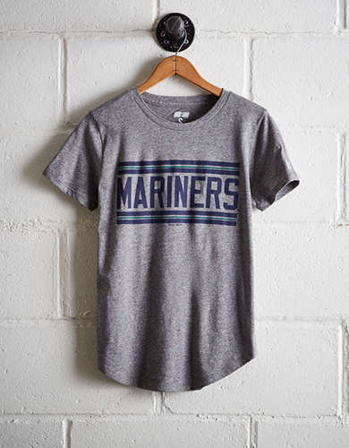 Tailgate Women's Mariners Chest Stripe T-Shirt - Free Returns