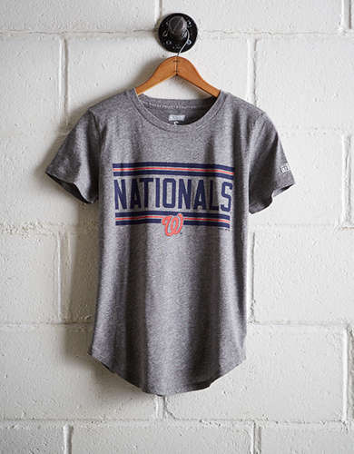 Tailgate Women's Nationals Chest Stripe T-Shirt - Buy One Get One 50% Off