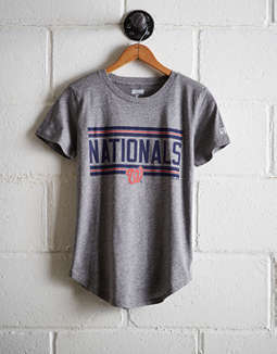 Tailgate Women's Nationals Chest Stripe T-Shirt