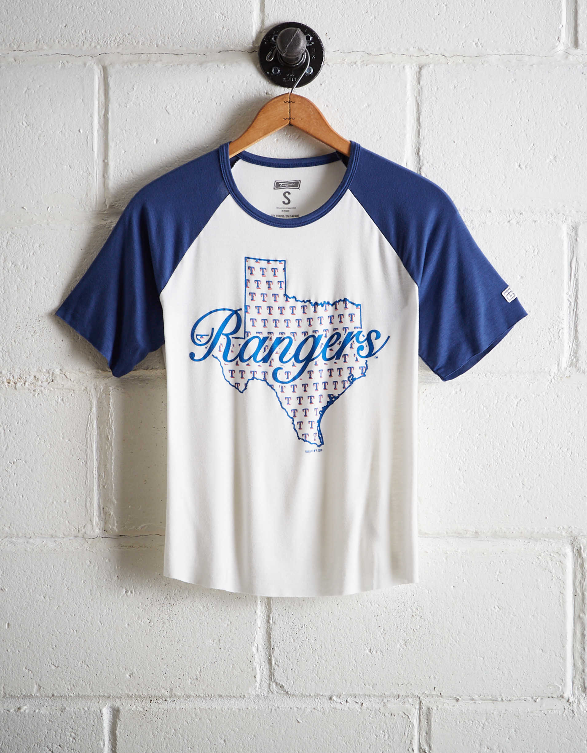 Tailgate Women's Texas Rangers Cut-Off Baseball Tee