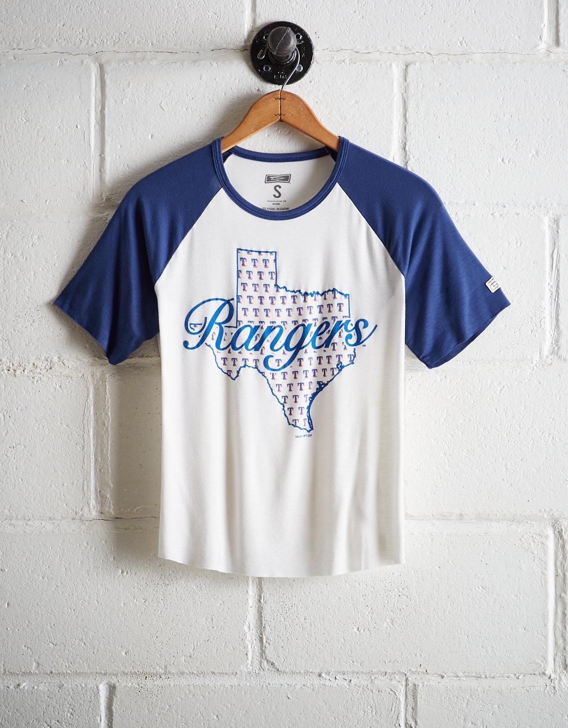 official photos 17754 962a9 Tailgate Women's Texas Rangers Cut-Off Baseball Tee