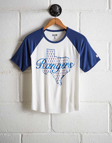 Tailgate Women's Texas Rangers Cut-Off Baseball Tee - Free Shipping + Free Returns