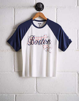 Tailgate Women's Boston Red Sox Cut-Off Baseball Tee