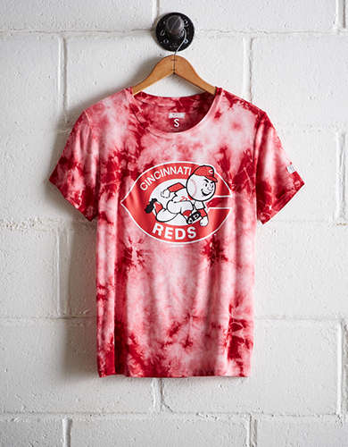 Tailgate Women's Cincinnati Reds Tie-Dye T-Shirt - Buy One Get One 50% Off