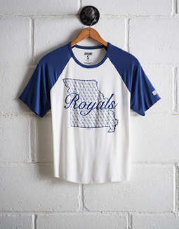 Tailgate Women's Kansas City Royals Cut-Off Baseball Tee