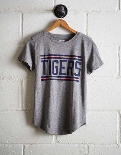 Tailgate Women's Tigers Chest Stripe T-Shirt - Free Returns