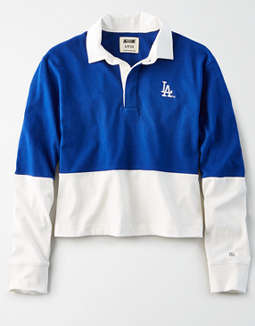 Tailgate Women's LA Dodgers Rugby Shirt