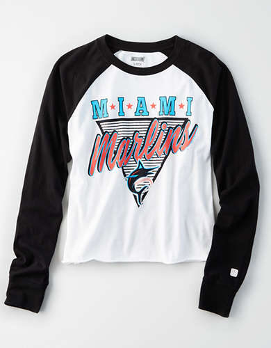 Tailgate Women's Miami Marlins Baseball Shirt