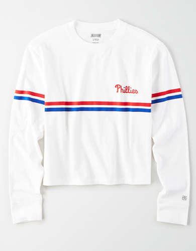 Tailgate Women's Philadelphia Phillies Cropped T-Shirt