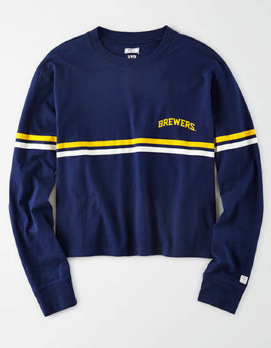 Tailgate Women's Milwaukee Brewers Long-Sleeve T-Shirt