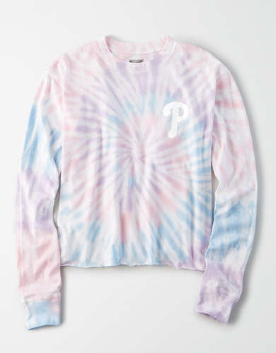 Tailgate Women's Philadelphia Phillies Tie-Dye T-Shirt