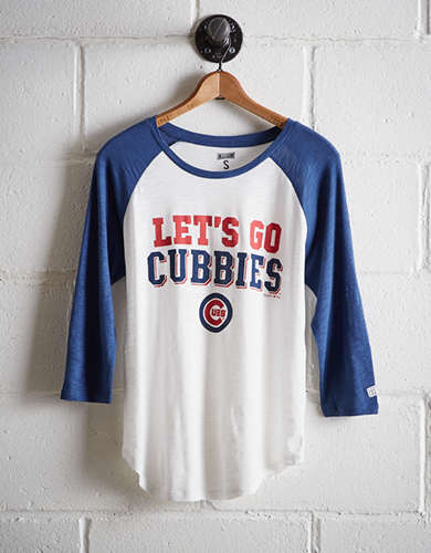 Tailgate Women's Chicago Cubs Baseball Shirt - Free Returns