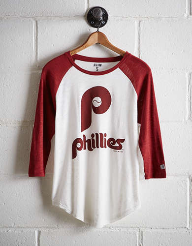 Tailgate Women's Philadelphia Phillies Baseball Shirt - Free Returns