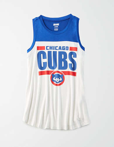 Tailgate Women's Chicago Cubs Color Block Tank