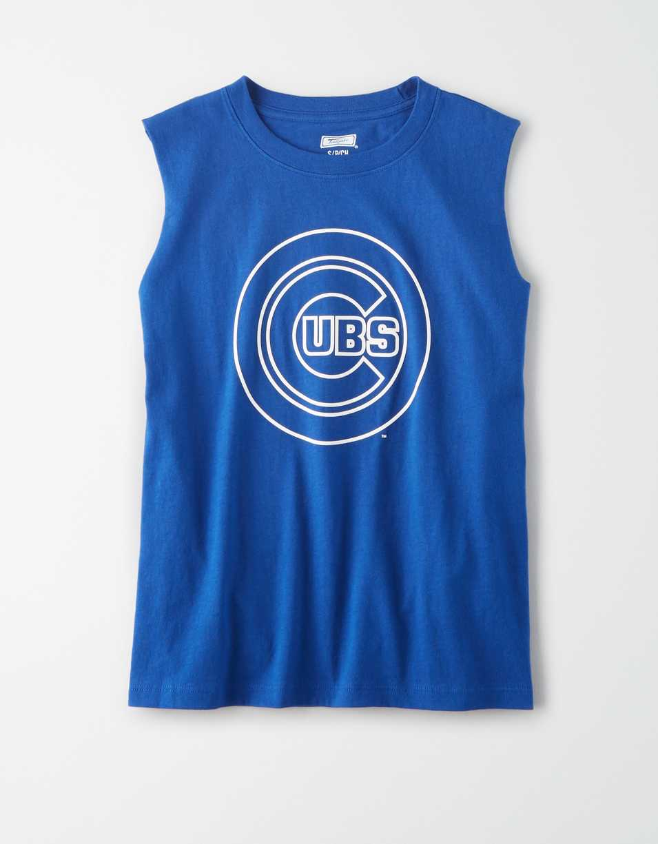 Tailgate Women's Chicago Cubs Muscle Tank Top