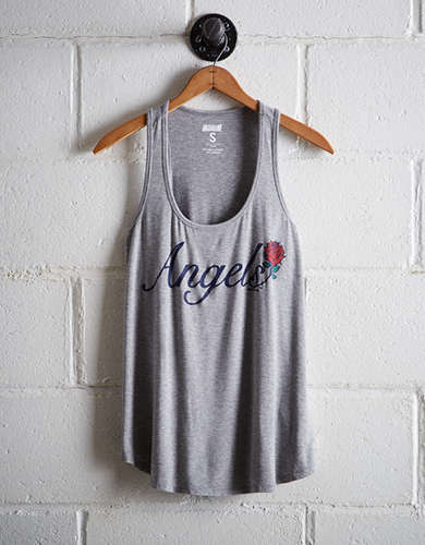 Tailgate Women's Los Angeles Angels Scoop Neck Tank - Free Returns