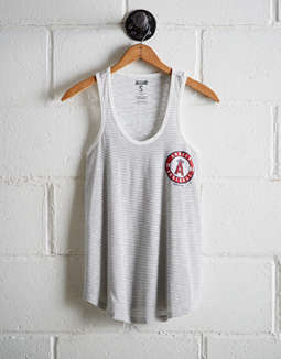 Tailgate Women's LA Angels Striped Scoop Neck Tank