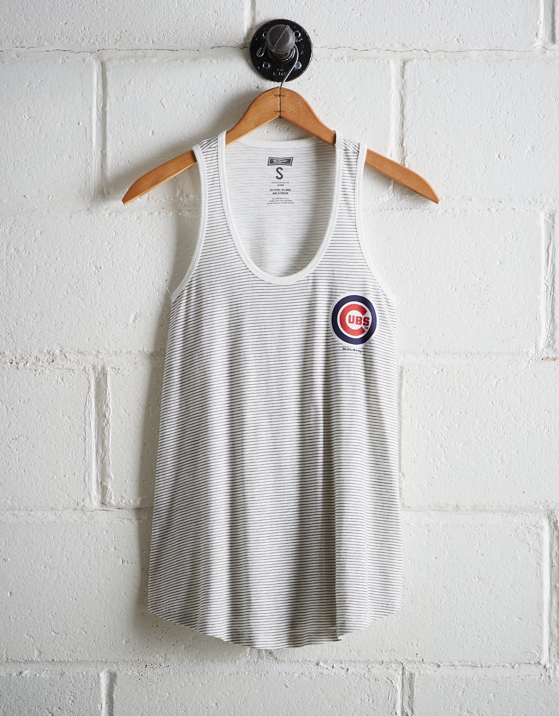 2c04dbbb7dd2f Tailgate Women s Cubs Striped Scoop Neck Tank. Placeholder image. Product  Image