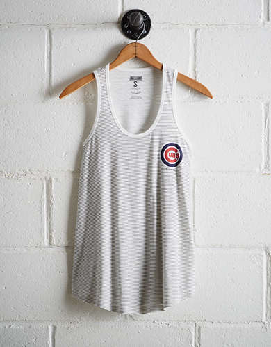 Tailgate Women's Cubs Striped Scoop Neck Tank - Buy One Get One 50% Off