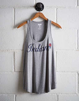 Tailgate Women's Cleveland Indians Scoop Neck Tank