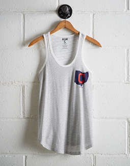 Tailgate Women's Cleveland Striped Scoop Neck Tank