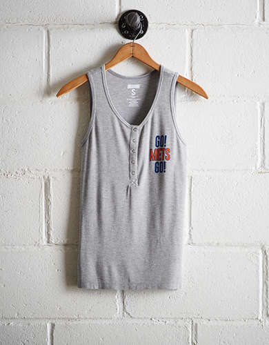 Tailgate Women's New York Mets Henley Tank - Free Returns