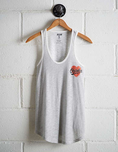 Tailgate Women's Orioles Striped Scoop Neck Tank - Free Returns