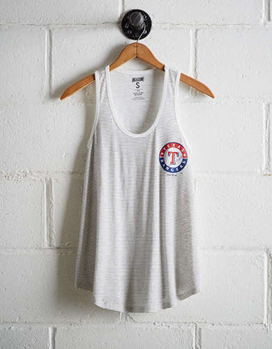 Tailgate Women's Texas Rangers Striped Scoop Neck Tank - Free Shipping + Free Returns