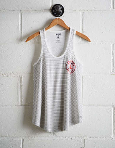Tailgate Women's Red Sox Striped Scoop Neck Tank - Buy One Get One 50% Off