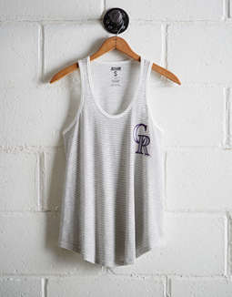 Tailgate Women's Rockies Striped Scoop Neck Tank
