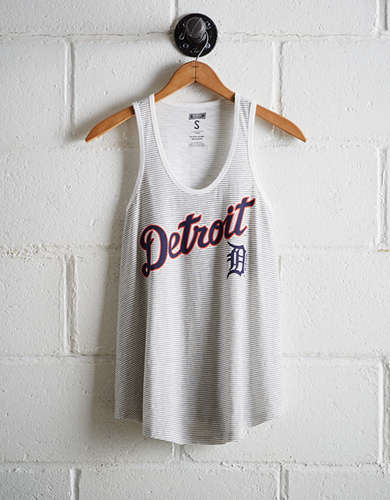 Tailgate Women's Detroit Striped Scoop Neck Tank - Free Shipping & Returns