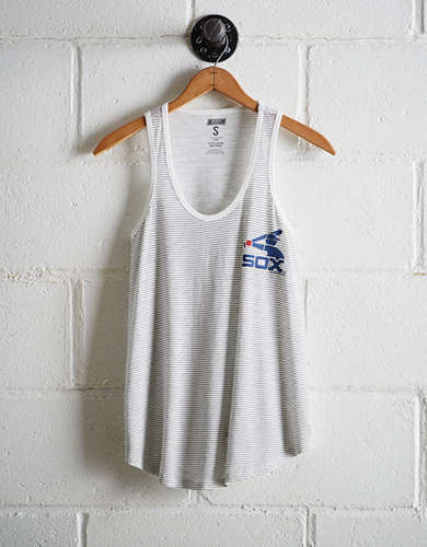 Tailgate Women's White Sox Striped Scoop Neck Tank - Buy One Get One 50% Off