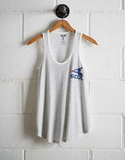 Tailgate Women's White Sox Striped Scoop Neck Tank