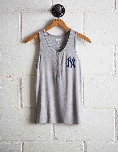 bca87754a233ec Tailgate Women s New York Yankees Henley Tank - Free Returns