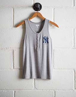 Tailgate Women's New York Yankees Henley Tank by American Eagle Outfitters
